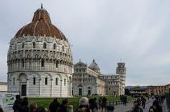 Piazzadei Miracoli på Pisa Fotografering för Bildbyråer