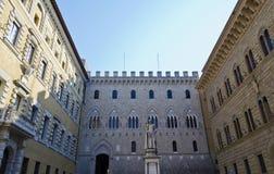 Piazzadei Selimbeni i Siena - Italien Fotografering för Bildbyråer