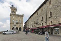 Piazzadella Liberta i San Marino Arkivbild