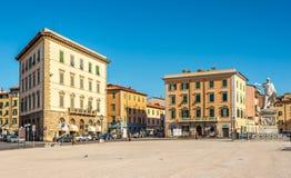 Piazzadella Repubblica i Livorno Fotografering för Bildbyråer