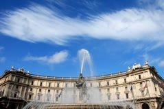Piazzadella Repubblica, Rome, Italien Royaltyfri Fotografi