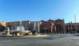 Piazzadella Republica, Rome - Italien arkivfoton