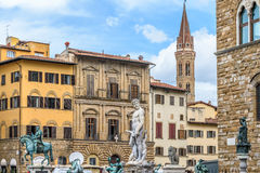 Piazzadella Signoria florence italy Arkivbild