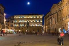 Piazzadella Signoria i Florence, Italien royaltyfria foton