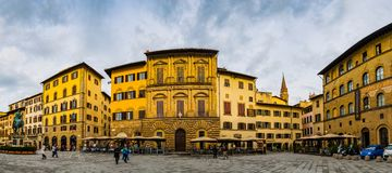 Piazzadella Signoria i Florence, Italien 免版税图库摄影