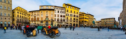 Piazzadella Signoria i Florence, Italien 免版税库存照片