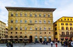 Piazzadella Signoria i Florence, Italien 库存照片
