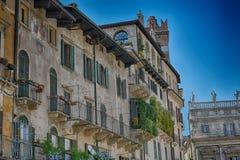 Piazzadelleerbe, Verona, Italien Royaltyfri Foto