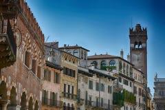 Piazzadelleerve, Verona, Italien Arkivfoton