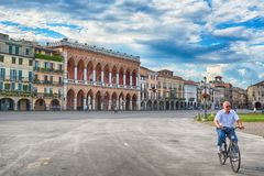 Piazzadelllaen valle, Padua, Italien Arkivfoto