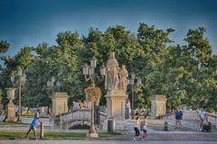 Piazzadelllaen valle, Padua, Italien Royaltyfri Fotografi
