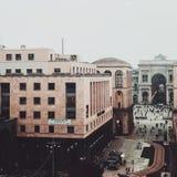 PiazzaDiaz Milan sikt Royaltyfri Foto