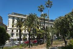 Piazzahotel Promenade du Paillon Nice Lizenzfreies Stockbild