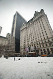 Piazzahotel während des Winters Stockfotografie