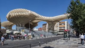 Piazzala EncarnaciÃ-³ n - Sevilla, Spanien Lizenzfreie Stockfotografie