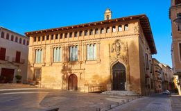 Piazzala Seu-Quadrat in Xativa in Valencia lizenzfreies stockfoto