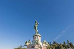 Piazzale的米开朗基罗大卫在佛罗伦萨,意大利 图库摄影