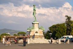 Piazzale米开朗基罗,一个著名正方形有一个宏伟的视图o 库存图片