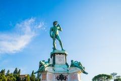 Piazzale Микеланджело Дэвида Флоренции Стоковое Изображение