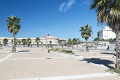Piazzale degli eventi,奇维塔韦基亚,意大利 免版税库存照片