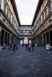 Piazzale degli Uffzi,佛罗伦萨 免版税图库摄影