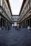 Piazzale degli Uffzi, Florence. Italy Royalty Free Stock Photography