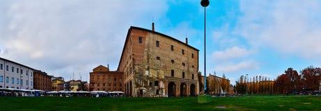 Piazzale della步幅在帕尔马,意大利的中心 免版税图库摄影