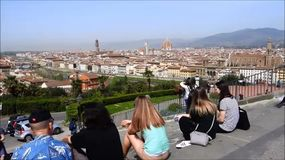 piazzale michelangelo, Florença, Italia video estoque