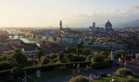 Piazzale Michelangelo in Florence Royalty Free Stock Image