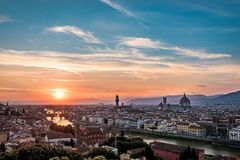 Panaromic View of Florence City royalty free stock photos