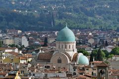 Panorama view from above of Florence city Royalty Free Stock Photos
