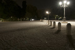 Piazzale Pincio natt Royaltyfri Foto