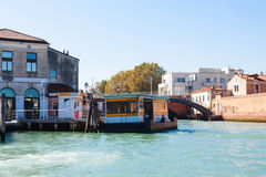 Piazzale Roma vaporetto water bus stops in Venice Stock Photo