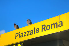 Piazzale Roma water bus stop sign in Venice Royalty Free Stock Image