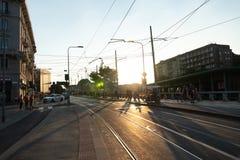Piazzale XXIV Maggio, Milano, Italia fotografie stock libere da diritti