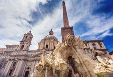 PiazzaNavona detalj Fotografering för Bildbyråer