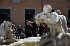 Piazzanavonafyrkant italy rome Royaltyfri Bild