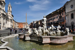 Piazzanavonafyrkant italy rome Arkivbilder