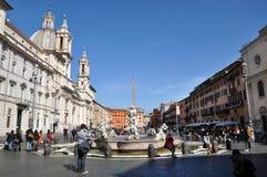 Piazzanavonafyrkant italy rome Arkivbild