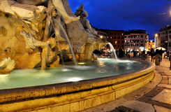 Piazzanavonafyrkant italy rome Arkivfoto