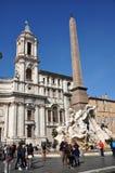 Piazzanavonafyrkant italy rome Royaltyfria Bilder