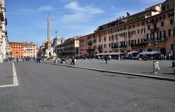 Piazzanavonafyrkant italy rome Fotografering för Bildbyråer
