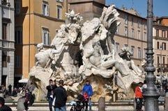 Piazzanavonafyrkant italy rome Royaltyfri Fotografi