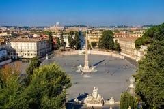 piazzapopolo Royaltyfria Bilder