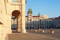 PiazzaUnità d'Italia, Trieste Royaltyfri Bild