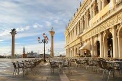 Piazzetta圣Marco在威尼斯,意大利 库存照片