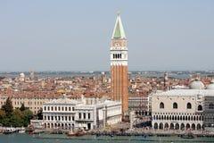 Piazzetta Сан Marco и известные здания, Венеция Стоковое Изображение