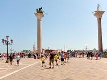 Piazzetta San Marco en Venecia Fotos de archivo libres de regalías