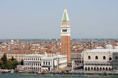 Piazzetta San Marco and famous buildings, Venice Stock Image