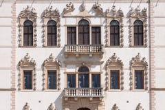 Piazzola sul Brenta (Padova, Veneto, Italien), villa Contarini som är hög Arkivfoton